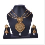 Gold Plated Necklace Set with Chain