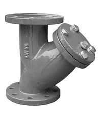 Cast Iron Strainers Y Type With Stainless Steel Screens