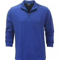Blue Color High Neck Full Sleeves T Shirt