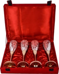 Silver Plating Brass Wine Glass Goblet Set With Gift Box