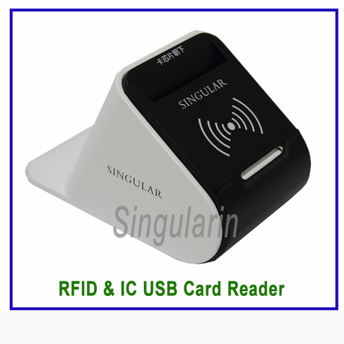 USB Contact And Contactless RFID NFC IC Card Reader with 2 PSAM Card Module - SCR100