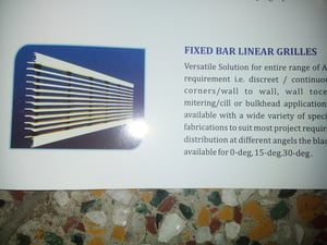Fixed Bar Linear Grilles