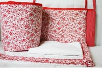Elegant In Red Crib Bedding Set