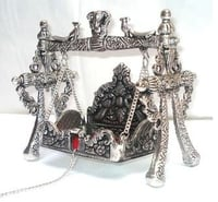 White Metal Jhula for GOD Idols