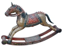 Wooden Rocking Horse Coloured