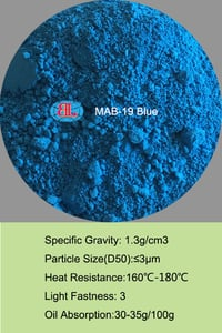 MAB-19 Blue Fluorescent Pigment for paint printing ink