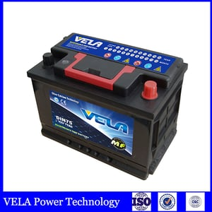DIN75 Sealed MF Rechargeable Lead Acid Car Battery