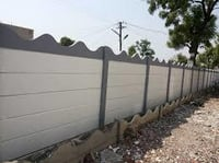 Cement Fold Compound Wall