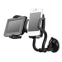ECellStreet 2 In 1 Dual Mount Universal Mobile and GPS Holder For All Smart Phones