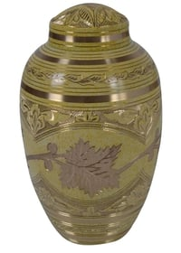 Decorative Flower Brass Urn