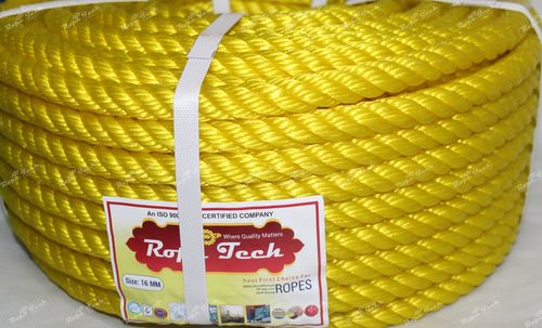Yellow Color Plastic Rope