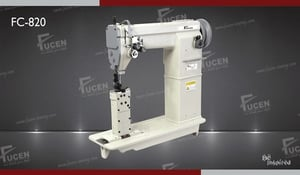Double needle post bed lock stitch sewing machine