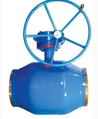 Full Welding Ball Valve with Gear Worm Actuator Stainless Steel Material