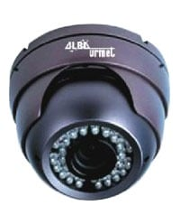 Dome Camera with IR LED with Varifocal Lens
