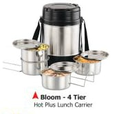 Bloom-4 Insulated Stainless Steel Lunch Carrier