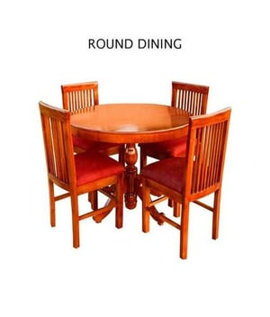 Round Dining Table And Chair Set