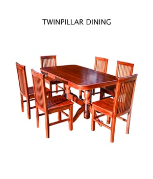 Twin Pillar Dining Table And Chair Set