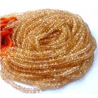 Citrine Faceted Rondelle Beads