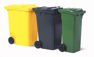 Plastic Waste and Dust Bins with Wheels
