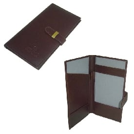 Leathers Cheque Book Folder