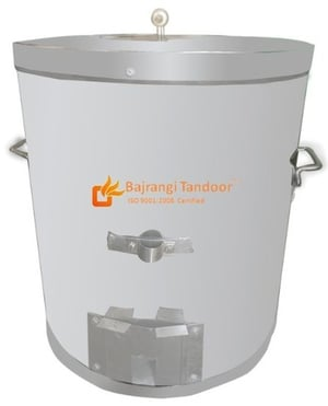 Stainless Steel Round Tandoor Gas Charcoal