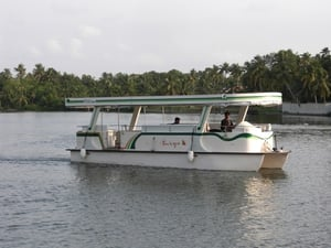 Solar Power Propelled Electric Boat
