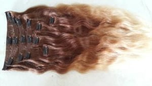 Indian Virgin Hair Ombre Clip In Hair Extensions
