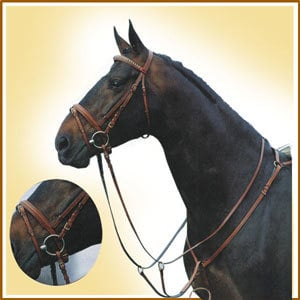 Snaffle Bridle With Breastplate