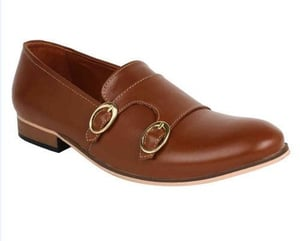 Handmade Leather Monk Shoes