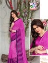 Trendy Printed Pink Color Saree With Blouse