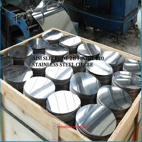 AISI Slit Edge 2B Finish 410 Stainless Steel Circles