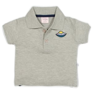 Spaceship Embroider Polo T Shirts