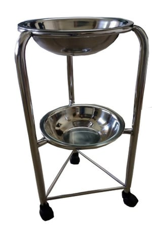 Hospital Stainless Steel Basin Stand Double
