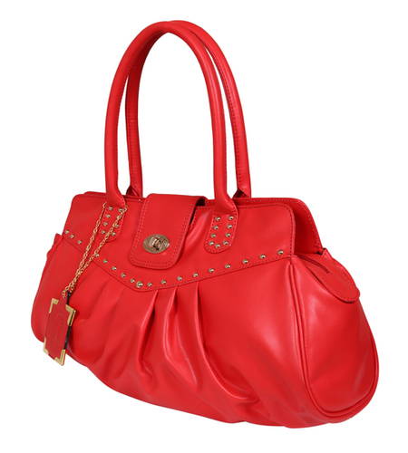 Red Ladies Synthetic Leather Bags