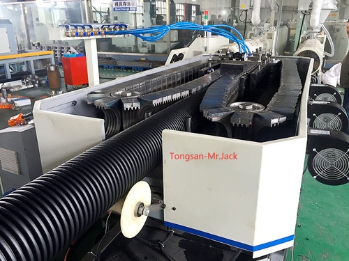HDPE and PVC Double Wall Corrugated Pipe Making Machine
