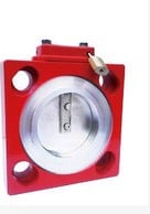 Red Butterfly Valve with lock