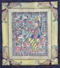 Madhubani Painting on Bamboo Sheet