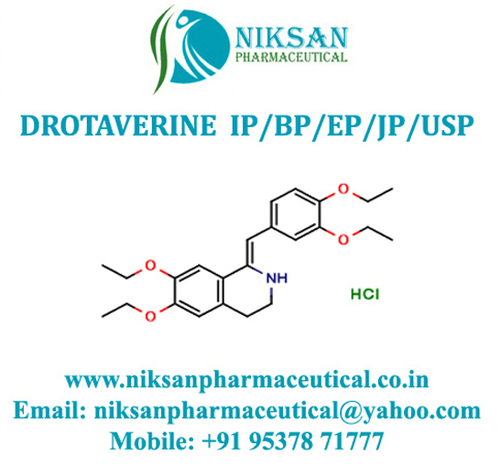 Drotaverine Ip/Bp/Ep/Usp