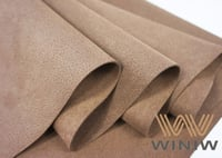 Pigskin Embossed Microfiber Synthetic Suede Leather For Shoes