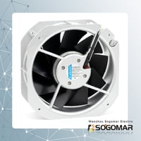 Axial Fan 225x225x80mm 220-240V AC with 9 Metal Impellers