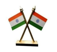 Car Dashboard Indian Flag Stand