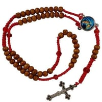 Rosary Wood 7 Mm Necklace