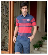 Multicolor Polo T-Shirt For Mens