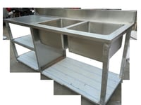 Steel Working Table With Sink Unit