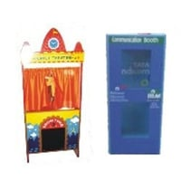 Puppet Theater And Telephone Activity Booth