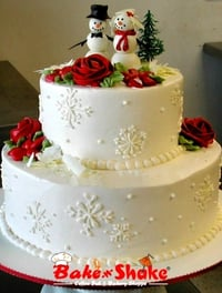Christmas Wedding Cakes