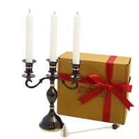 3 Arm Candelabra Boxed Set - Black Nickel