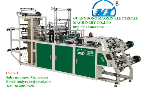 Automatic Double Decker Point Cut On Roll Bag Making Machines