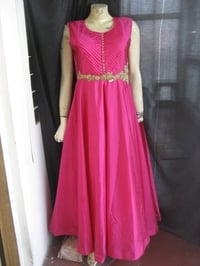 Ethnic Wear Pleated Gown