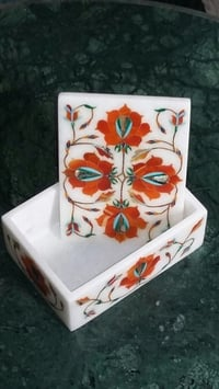 Decorative Inlay Marble Gift Box